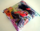 Colorful Yarn Scraps for Scrapbooking or Crafts. Mixed Lot Variety Destash Yarn Remnants, Fancy Yarn Assortment, Short Length Yarns