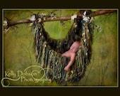Fringe Hammock Baby Blanket Photo Prop, Green 'Verdant'or YOU CHOOSE COLOR