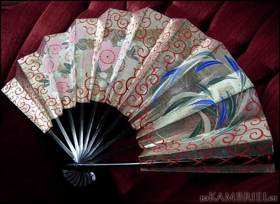 Geisha - Authentic Vintage Japanese Hand Painted Sensu Fan