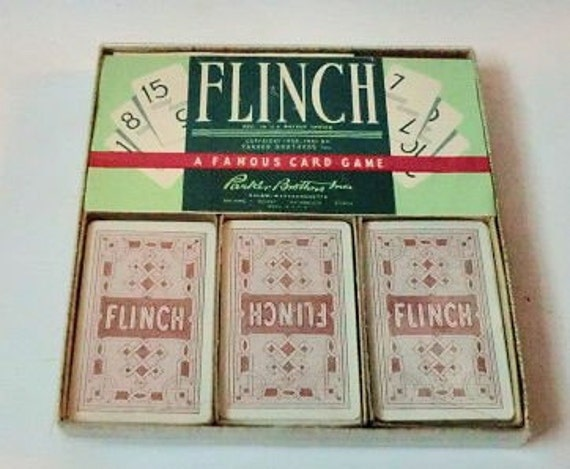 VINTAGE Flinch Famous Card GAME