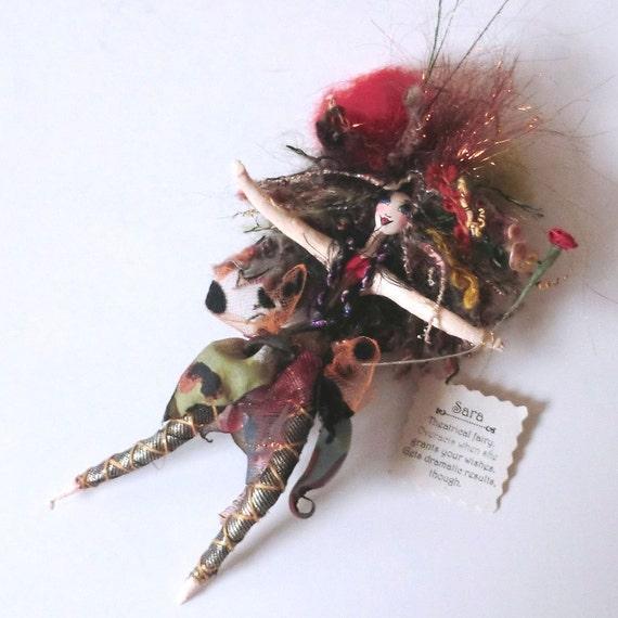 Paper Mache Fairy Collectible Handmade Jean Shackelford