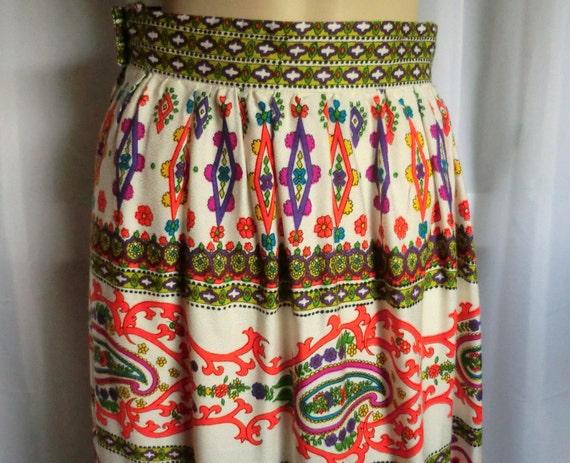 VINTAGE Bohemian Gypsy Maxi SKIRT