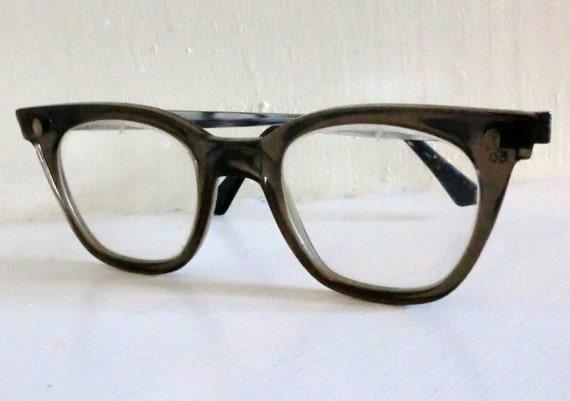 VINTAGE Fendall Plastic and Metal Hipster Eyeglass FRAMES