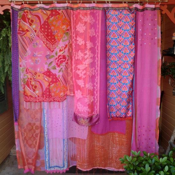 Handmade GYPSY Shower Curtain Meet Me In Mumbai