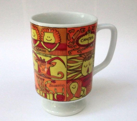 VINTAGE Horoscope Sign Coffee MUG