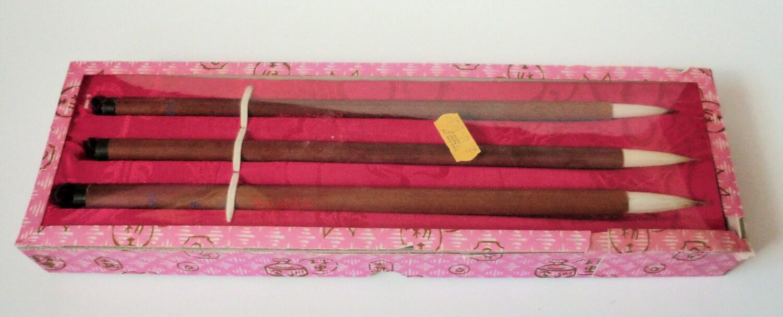 Vintage Chinese Calligraphy Brush Set