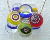Clacker Cluster 2  Lampwork Beads aka Candy Jacks SRA C3