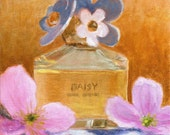 SALE - Daisy - Original painting on canvas Perfume Modern Romantic Chic Gift for Her