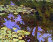 Waterlilies from France - Canvas Art Print of Claude Monet Famous Water Garden