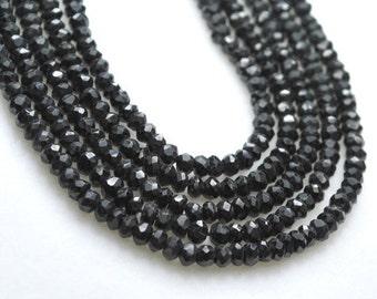 1/2 strand amazing black spinel rondelles- 3,5mm