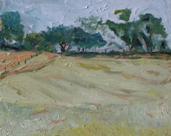 "Art Plein Air Landscape Oil Painting Original FREE SHIPPING Impressionist Appalachian Quebec Canada Fournier "" September In The Air"" 10 x 12"