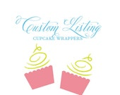 Custom Listing - Cupcake wrappers navy