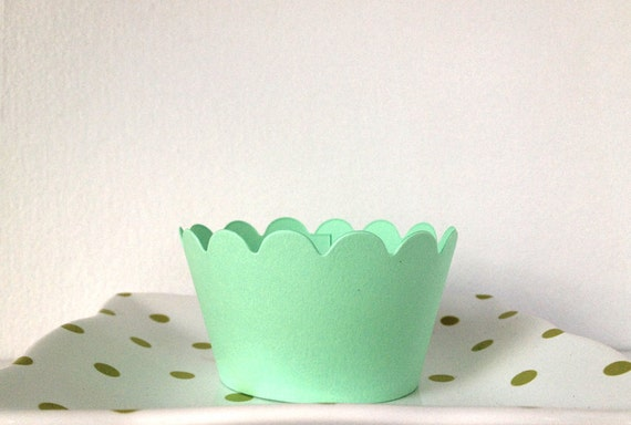 Mint Green Cupcake Wrappers