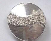 Fine Silver Lentil Bead - Glitter