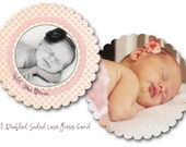 Luxe Round Baby Birth Announcement PSD Template