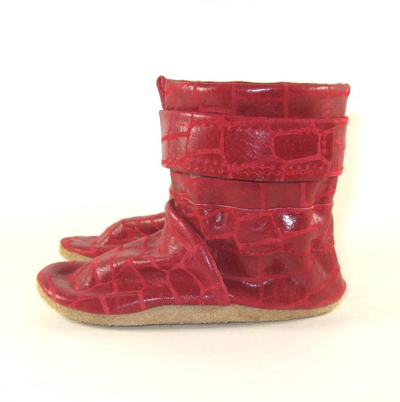 soft sole leather baby boots shoes 0 to 6 month