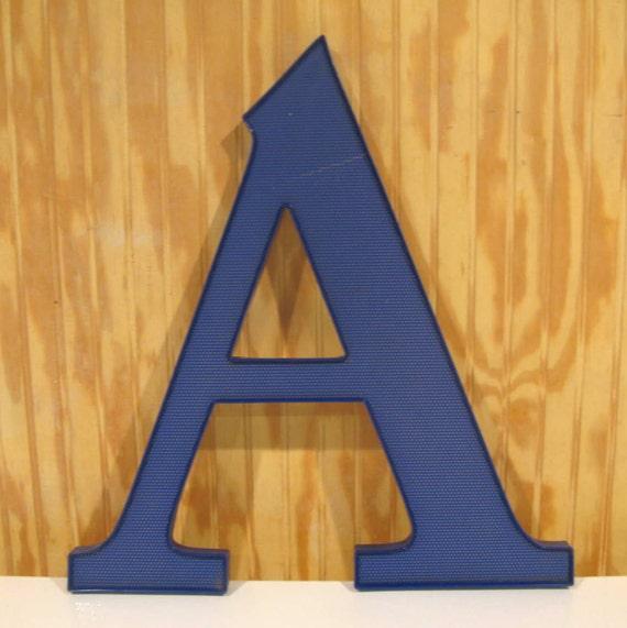 "Large Vintage Sign Plexiglass Wall Letter ""A"""