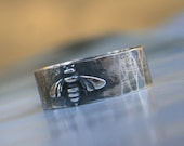 Honey Bee Ring in Sterling Silver