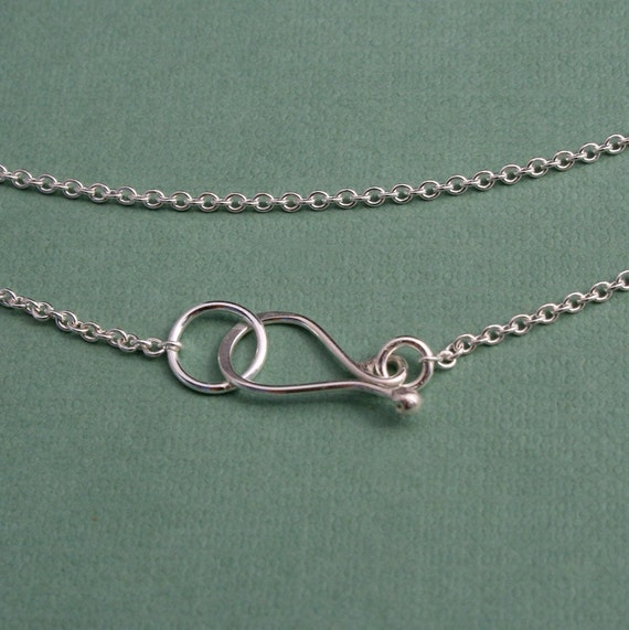 18 inch Sterling Silver Chain with Handmade Clasp