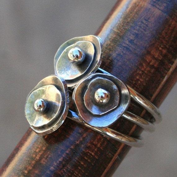 Sea Anemone Stacking Rings