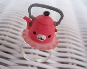 SALE Wanroom pink tea kettle ring