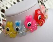 Happy little rainbow fawns bracelet