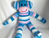 Jessica the sock monkey  Ready to ship