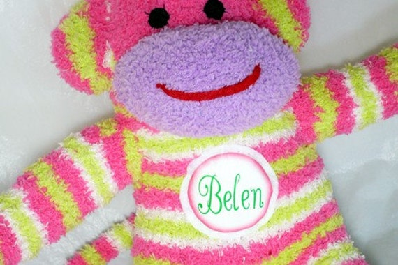 Personalize any sock  monkey with this listing