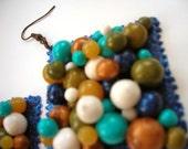 3D bonbon stamp earrings