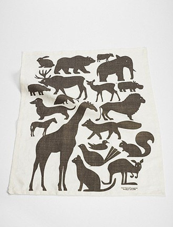 Animals Amassed Tea Towel