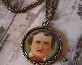 Edgar Allan Poe Colored Pendant Necklace