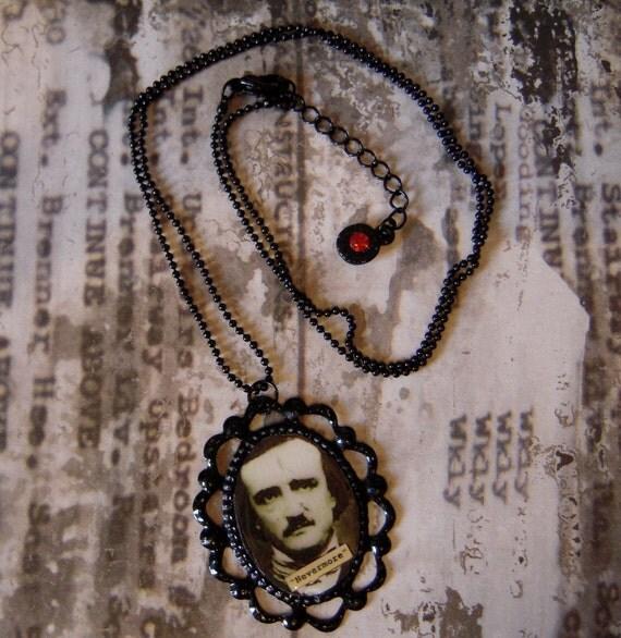 Edgar Allan Poe Nevermore Necklace