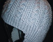Baby Cable Beanie with Earflaps Pattern (PDF Delivery)