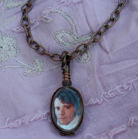 Colin Firth / Mr. Darcy reversible locket