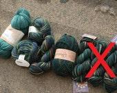 SALE - MASSIVE DESTASH - Blue and Green Wool Lot