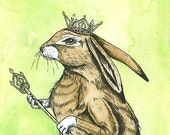 Hare Queen (an original hand painted queen)