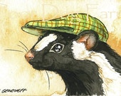 Skunk in a Hat - 5 x 7 print