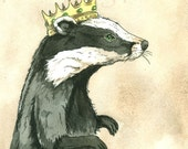 Badger King (an original hand painted king)