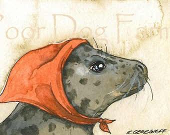 ACEO signed Print - Mama Seal