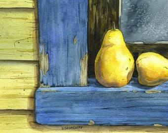 Pears on a Window Ledge