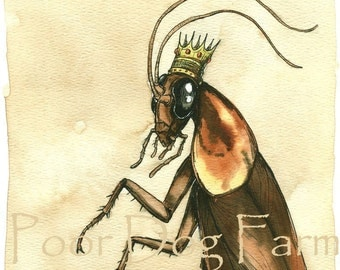 Cockroach King  (an original hand painted queen)