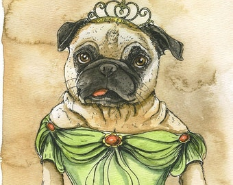 Pug Queen (the original hand painted queen)