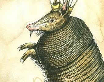 Armadillo King (an original hand painted king)