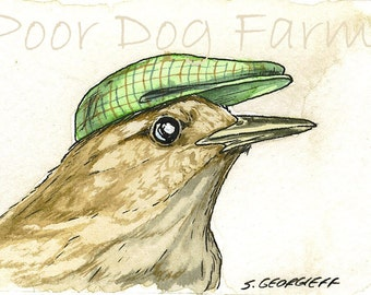 ACEO signed Print- Tiny Wren-