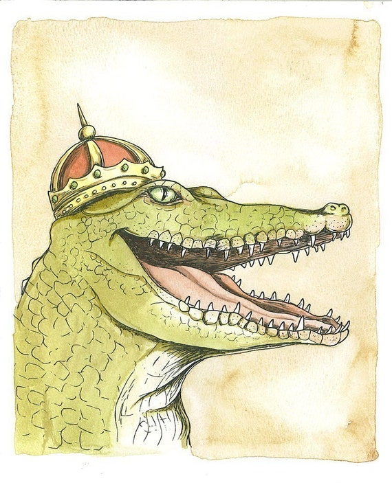 Royal Crocs 5 x7  (SPECIAL set of 2 prints)