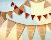Vintage Textiles Banner Trio (in orange)