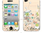 Secret Garden iPhone Skin for Back and Front