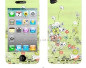 Secrete Garden iPhone Skin for Back and Front