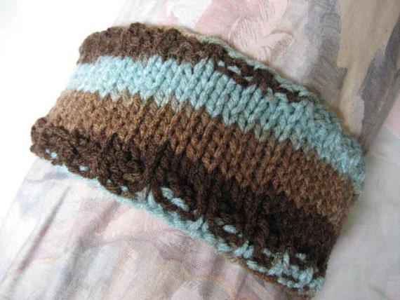 Warrior Band - Hand Knit Headband - Vegan Friendly Yarn
