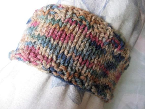 Earth Band - Hand Knit Headband - Vegan Friendly Yarn